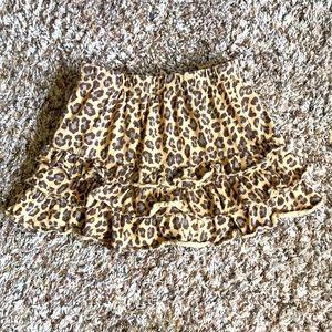 Girl Leopard Ruffle Skort